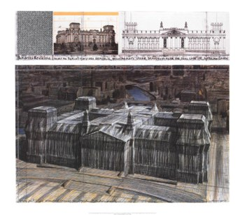 Wrapped Reichstag Project for Berlin  Fine-Art Print