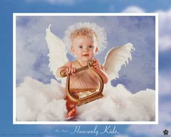 Heavenly Kids Harp  Fine-Art Print