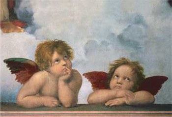 The Cherubim Putti Angels of The Sistine Madonna, c.1514  Fine-Art Print