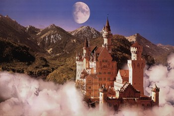 Castle In The Mountains  Fine-Art Print
