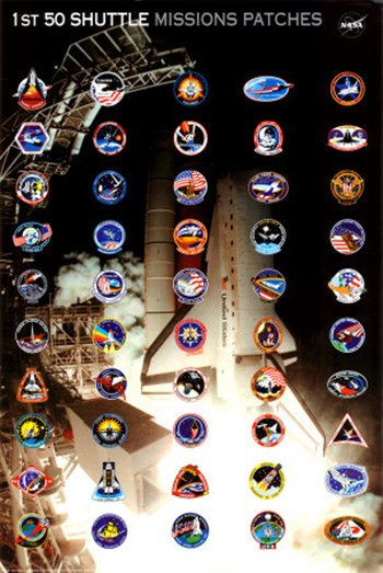 Space Shuttle Missions Patches  Fine-Art Print