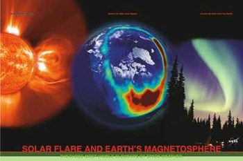Solar Flare and Earth's Magnetosphere  Fine-Art Print