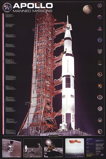 Apollo 11 Manned Mission  Fine-Art Print
