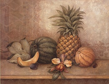 Pineapple and Orchid  Fine-Art Print