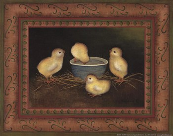 Chicks with Water  Fine-Art Print