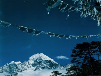 Landscape and Prayer Flag  Fine-Art Print