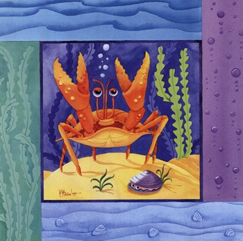 Seafriends-Crab  Fine-Art Print