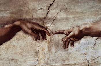 Creation of Adam (Detail)  Fine-Art Print