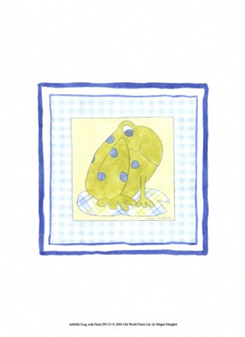 Frog with Plaid (PP) IV  Fine-Art Print