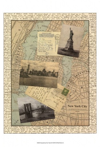 Post Cards from NY  Fine-Art Print