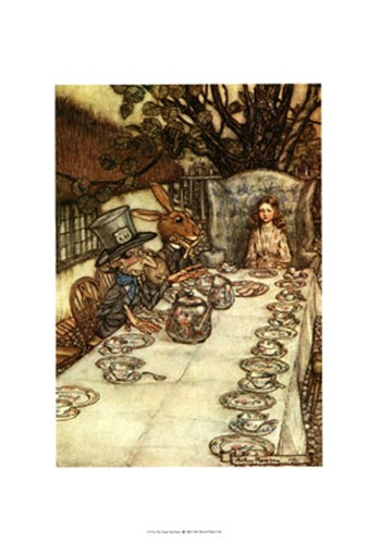 The Mad Tea Party  Giclee