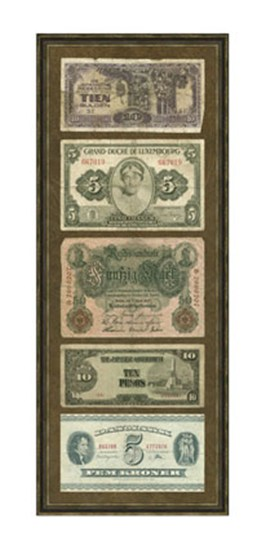 Foreign Currency Panel I  Giclee