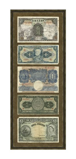 Foreign Currency Panel II  Fine-Art Print