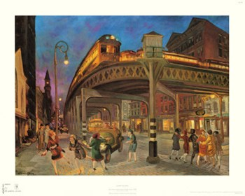 Sixth Avenue Elevated at Third St., 1928  Fine-Art Print