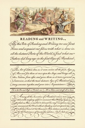 Reading and Writing  Fine-Art Print