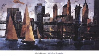 Sailboats in Manhattan II  Fine-Art Print