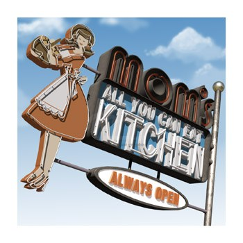 Mom's All-You-Can-Eat Kitchen  Fine-Art Print