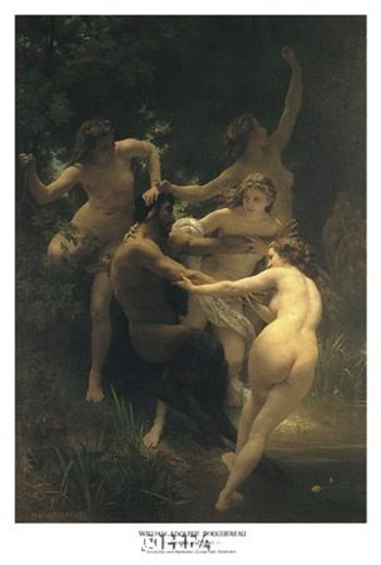 Nymphs and Satyr  Fine-Art Print