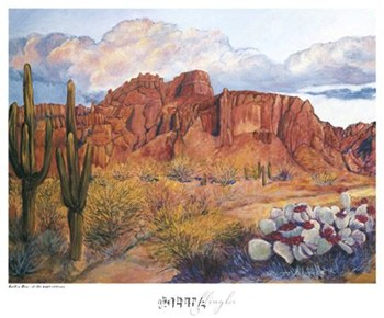 Golden Hour of the Superstitions  Fine-Art Print