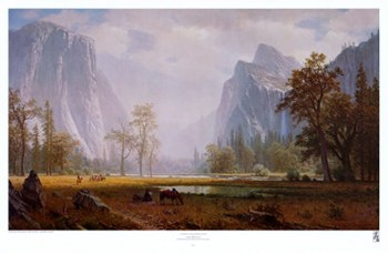 Looking Up The Yosemite Valley  Fine-Art Print