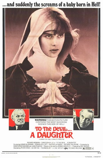 to the Devil a Daughter  Wall Poster