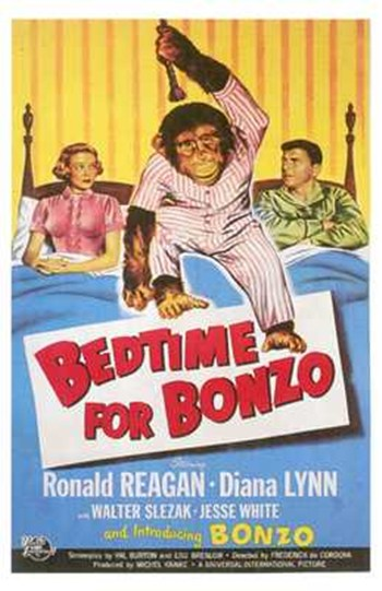 Bedtime for Bonzo  Wall Poster