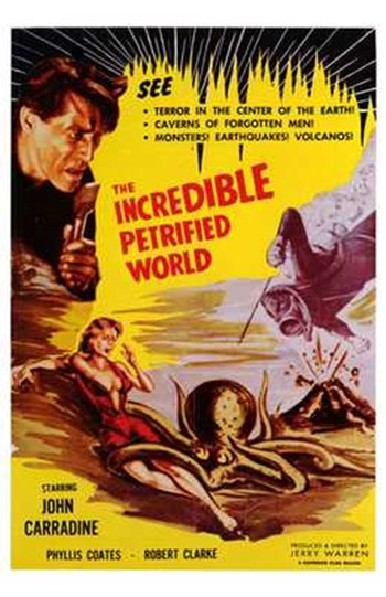 The Incredible Petrified World  Wall Poster