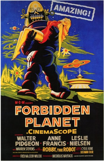 Forbidden Planet - style C  Wall Poster