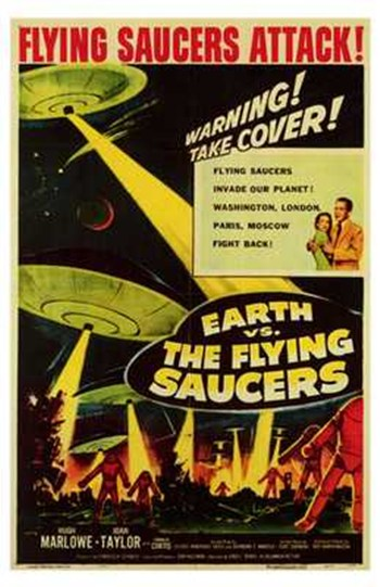 Earth Vs the Flying Saucers  Wall Poster