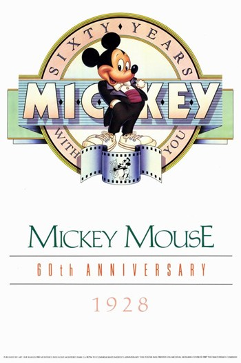 Mickey Mouse 60Th Anniversary Gallery  Wall Poster