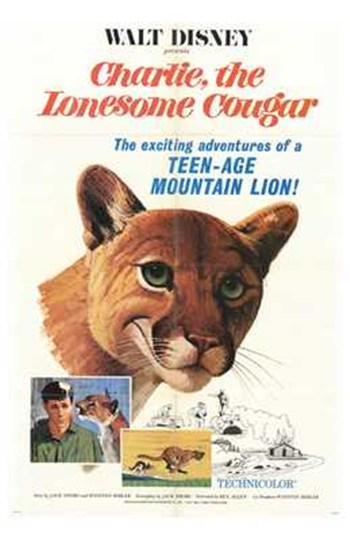 Charlie the Lonesome Cougar  Wall Poster