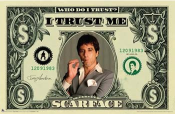 Scarface - Money  Wall Poster