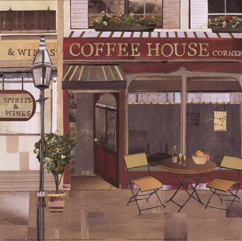 Coffee House Corner  Fine-Art Print