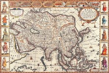 Map of Asia  Fine-Art Print