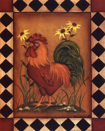 Red Rooster I  Fine-Art Print