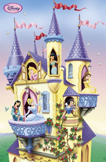 Princess-Collage  Wall Poster