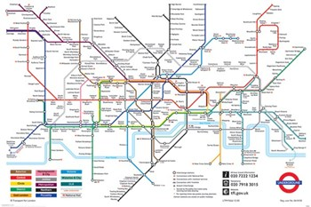 London Underground Map  Wall Poster