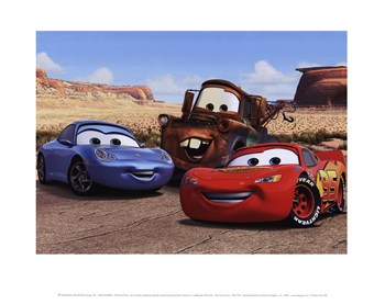The Cast of Cars  Fine-Art Print