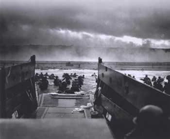 The Morning of June 6, 1944 (D-Day) at Omaha Beach (#1)  Fine-Art Print