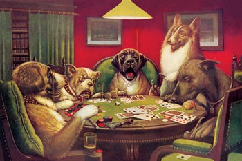 "Dog Poker - ""Stun, Shock & the Win""  Fine-Art Print"