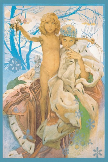 Snow Queen and Child  Fine-Art Print