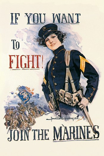 If You Want to Fight! Join the Marines  Fine-Art Print