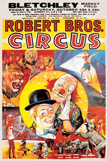 Robert Brothers' Circus at Bletchley Market Field  Fine-Art Print