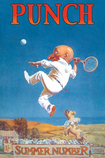 Gnome Playing Tennis  Fine-Art Print