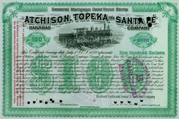Atchison, Topeka and Santa Fe Stock Certificate  Fine-Art Print
