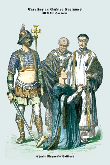 Carolingian Empire Costumes - Charlemagne's Soldiers  Fine-Art Print