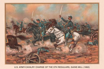 Cavalry Charge of the 5th Regulars, Gaines Mill 1862  Fine-Art Print