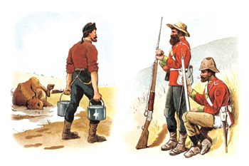 Soldiers and Farmer  Fine-Art Print