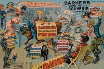 Barker's Horse, Cattle, and Poultry Powder  Fine-Art Print
