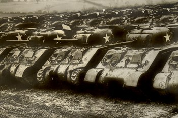 Sherman Tanks  Fine-Art Print